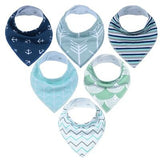 Soft and Gentle Organic Cotton Bandana Bibs (6 Pack)