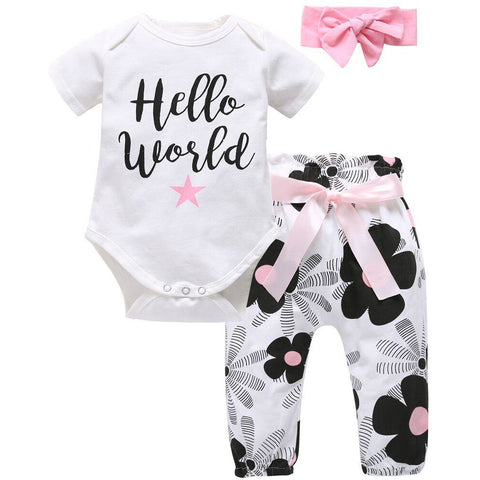 Baby Girl Floral Fashion 3 Piece Set (3-24M)