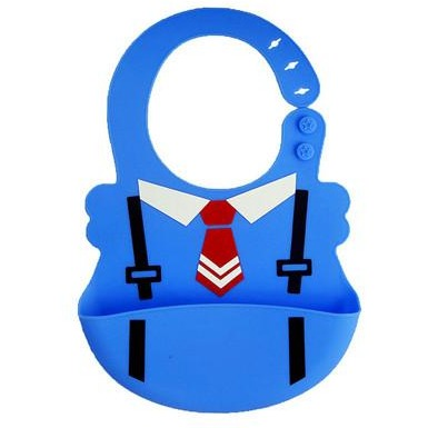 Cute Formal Attire Dining Bib - Waterproof Food-Grade Silicone