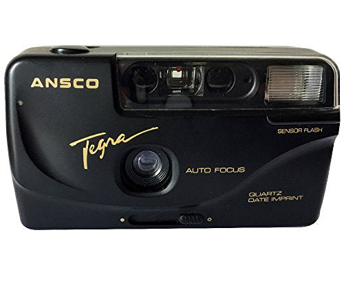 Ansco Tegra 35mm Film Camera Vintage Point & Shoot Flash Date/Time Imprint