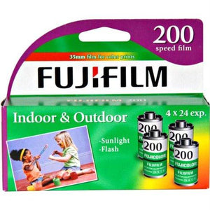 Fuji 200-24 35mm Film 4-Pack Exp. 2019 (4 Rolls)