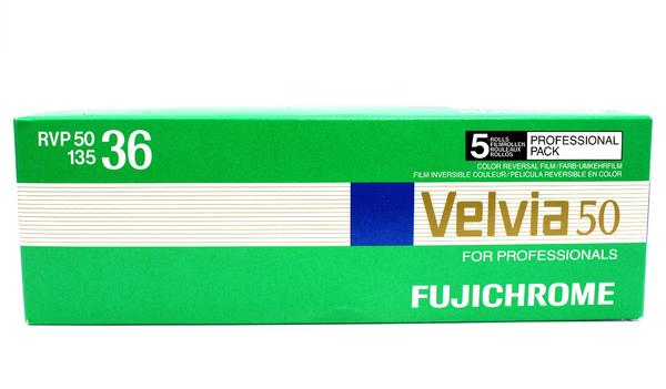 Fuji Velvia 50 135-36 35mm Film Wholesale Exp. (4/2018) - (5 Rolls)