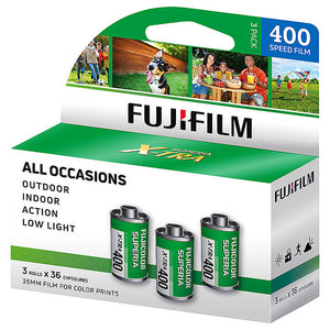 (3-Pack) Fuji Superia 400 35mm X-TRA CH 135-36 (Exp. 02/2021)