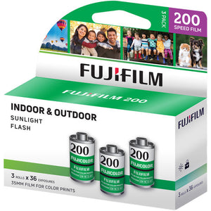 (3-Pack) Fuji Fujicolor 200 135-36 35mm Film 3pk Color CA Fujifilm 11/2019