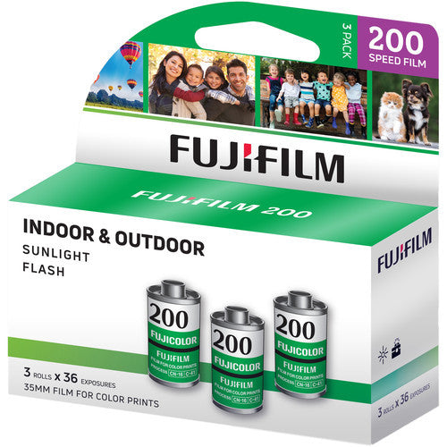 (3-Pack) Fuji Fujicolor 200 135-36 35mm Film 3pk Color CA Fujifilm 01/2021