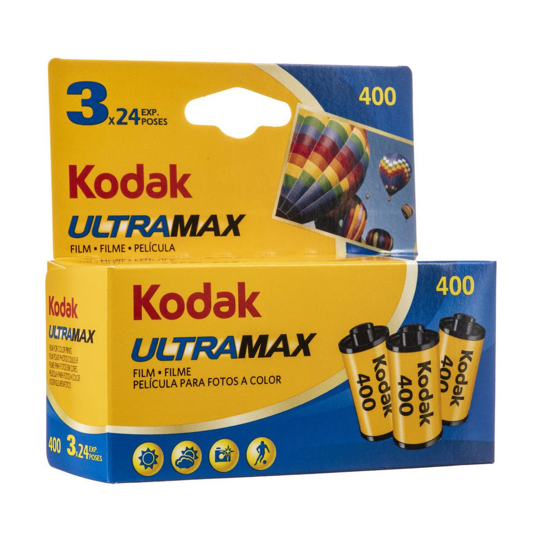 Kodak Kodacolor Ultra Max 400 GC Color Negative Film ISO 400, 35mm Size, 24 Exposure, 3-Pack