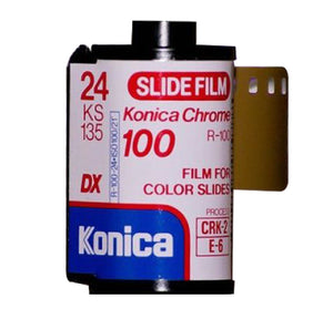 Konica Chrome 100 35mm Color Slide Film R-100 KS 135-24 Rare Lomography (Single Roll)