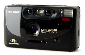 Ansco Mini AF/R 35mm Film Camera Vintage Point & Shoot Flash Date Remote