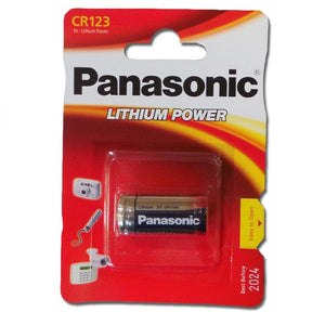 Panasonic CR123A CR123 CR 123 Lithium 3V Photo Batteries (exp. 2028)