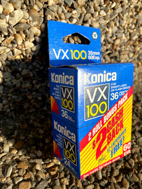 Konica VX 100 Rare Expired 35mm Film- 2 rolls