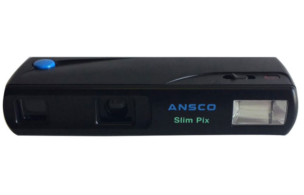Ansco Slim Pix 110 Film Camera Vintage Point & Shoot Retro Flash