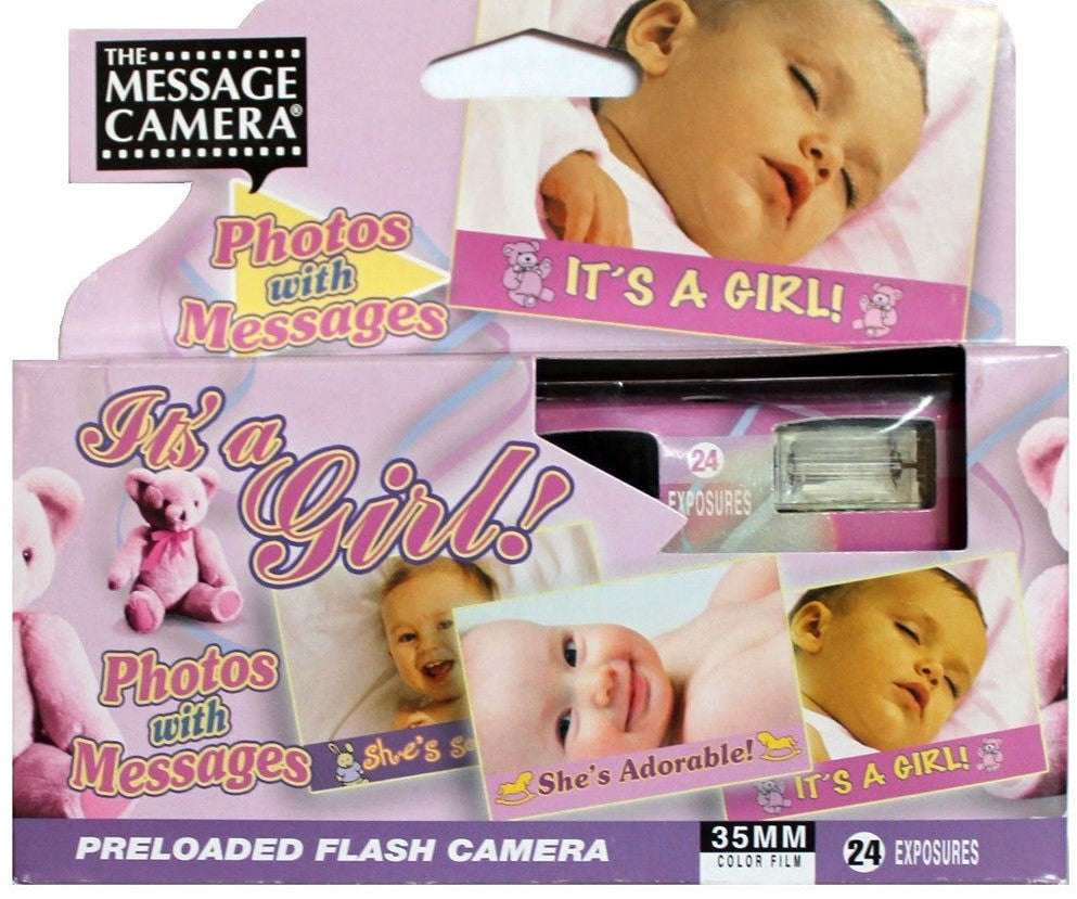 It's a Girl Baby Shower Disposable Camera 35mm Film Favor Decoration Gift Expired