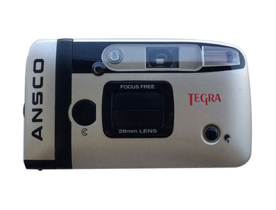 Ansco Tegra 35mm Compact Point & Shoot Camera Flash Panorama Focus Free Vintage