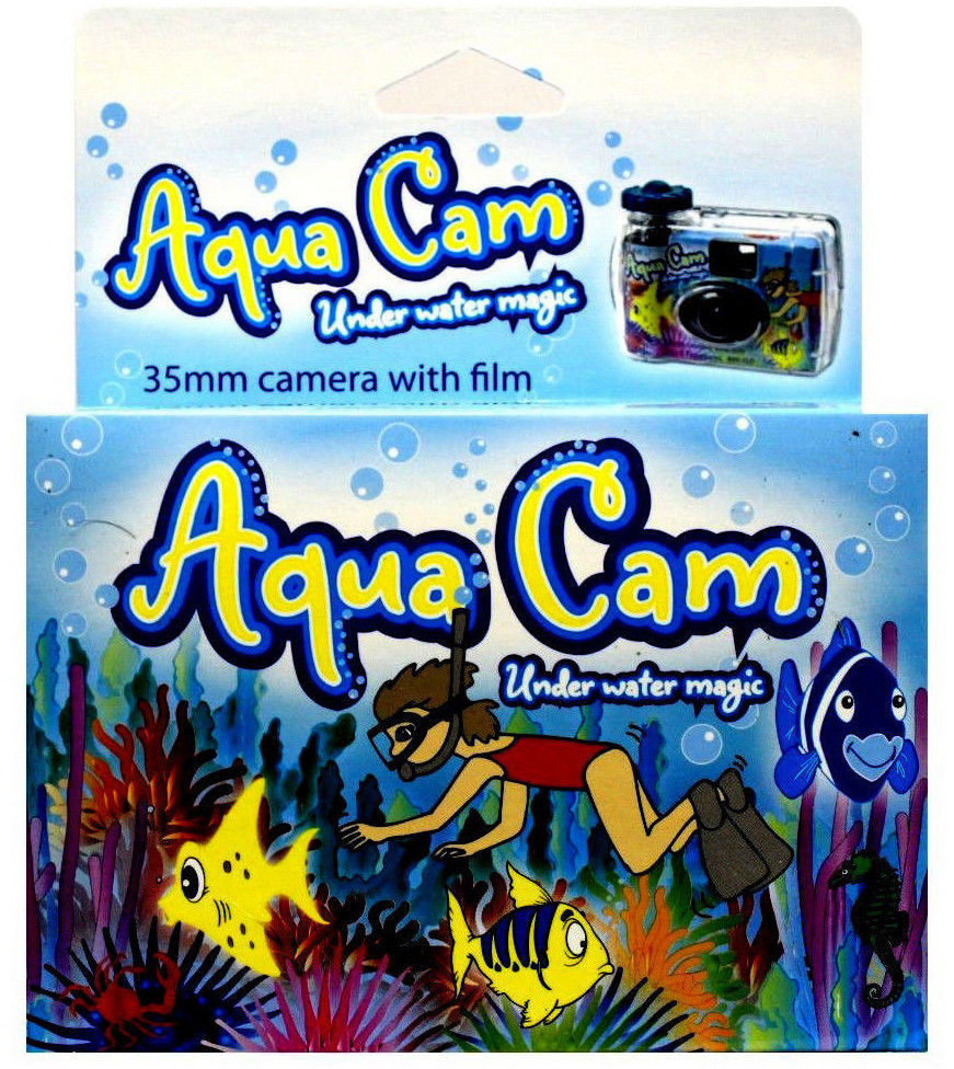 Aqua Cam Underwater Disposable Camera Waterproof Single Use 35mm 27exp