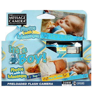 It's a Boy Baby Shower Disposable Camera 35mm Film Favor Decoration Gift Expired