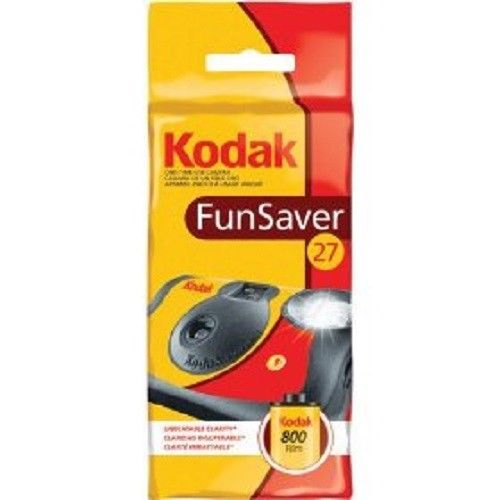 Kodak Disposable Camera FunSaver Flash 35mm Film One Time Use 800- 27Exp (09/2021)
