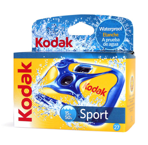 Kodak Disposable Camera Sport Underwater Waterproof 35mm Film 27Exp 09/2019