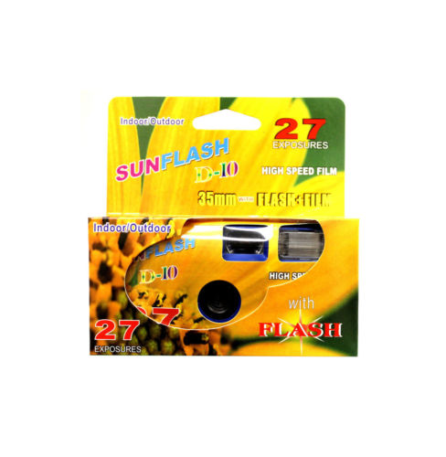 (10-Pack) SunFlash Disposable Camera 35mm Film One Time Single Use D-10 FRESH 2020