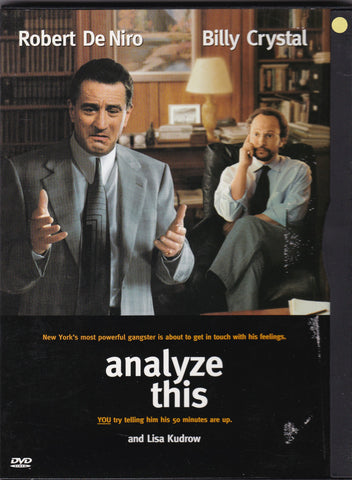 DVD. Analyze This with Robert De Niro and Billy Crystal