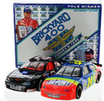 Dale Earnhardt and Jeff Gordon. Brickyard 400 Set. Autographed