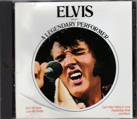 CD. Elvis Presley. Elvis Volume 1 A Legendary Performer