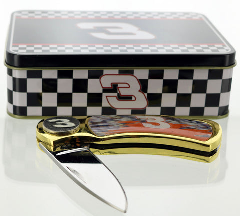 Dale Earnhardt, #3 Pocket Knife in metal display tin.