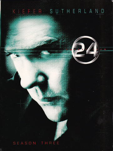 DVD. 24 Season 3 complete set starring Kiefer Sutherland