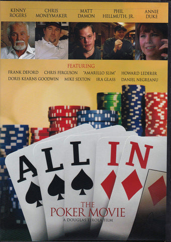 DVD. All In - The Poker Movie starring Kenny Rogers and Matt Damon