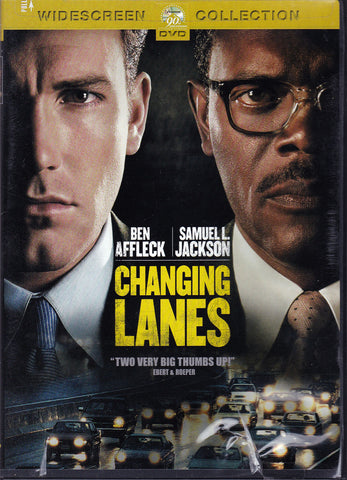 DVD. Changing Lanes starring Ben Affleck and Samuel L. Jackson