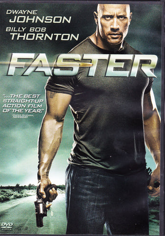 DVD. Faster starring Dwayne Johnson and Billy Bob Thornton