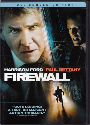 DVD. Firewall starring Harrison Ford and Paul Bettany
