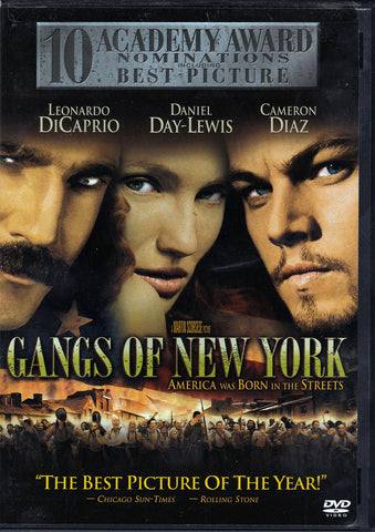 DVD. Gangs Of New Yourk starring Leonardo DiCaprio Daniel Day-Lewis and Cameron Diaz