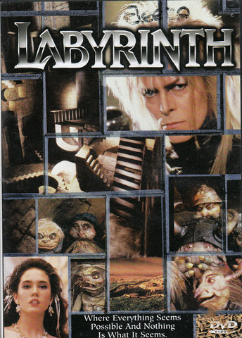 DVD. Labyrinth starring David Bowie and Jennifer Connelly