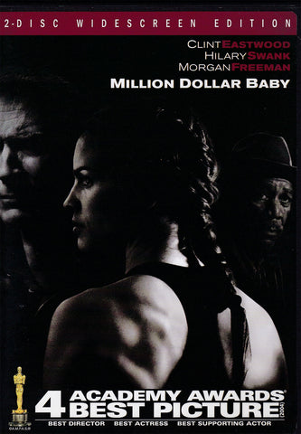 DVD.Million Dollar Baby starring Clint Eastwood, Hilary Swank and Morgan Freeman