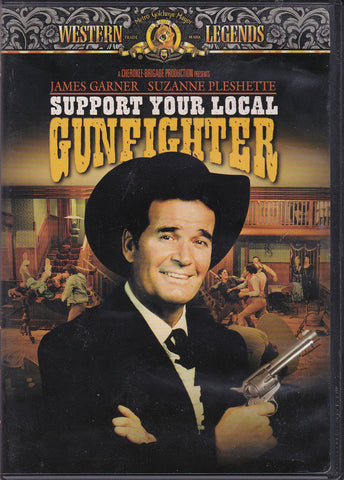 DVD. Support Your Local Gunfighter starring  James Garner and Suzanne Pleshette