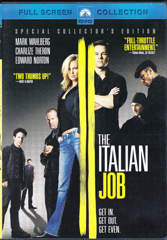 DVD. The Italian Job starring Mark Wahlberg, Charlize Theron and Edward Norton