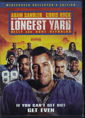 DVD. The Longest Yard starring Adam Sandler and Chris Rock