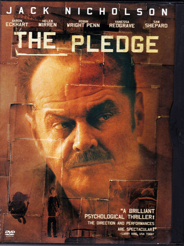 DVD. The Pledge Starring Jack Nicholson and Aaron Eckhart