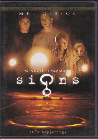 DVD. Signs starring Mel Gibson and Joaquin Phoenix