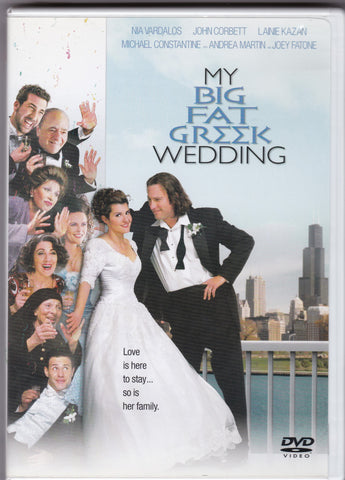 DVD. My Big Fat Greek Wedding starring Joey Fatone, Andrea Martin and Lainie Kazan