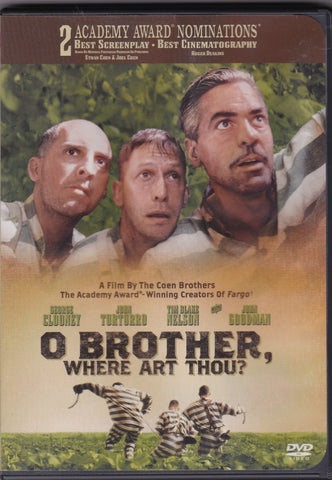 DVD. O Brother Where Art Thou, Starring George Clooney, John Turturro and John Goodman