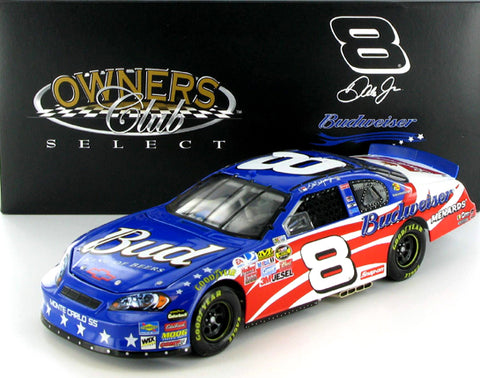 Dale Earnhardt Jr #8 Budweiser Stars and Stripes 2007 Monte Carlo SS Owners Club Select Nascar Diecast