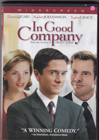 DVD. In Good Company with Dennis Quaid, Scarlett Johansson and Topher Grace