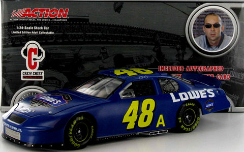 Jimmie Johnson #48 Lowe's/Test Car/Crew Chief Collection 2005 Monte Carlo Nascar Diecast
