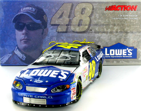 Jimmie Johnson Autographed #48 Lowe's 2003 Monte Carlo Nascar Diecast