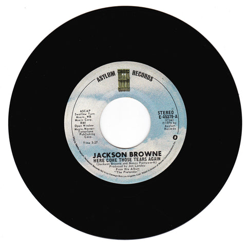 Jackson Brown. Here Come Those Tears Again / Linda Paloma