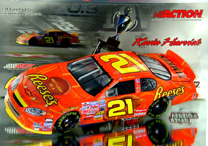 Kevin Harvick #21 Reese's/LV Win/Raced Version Nascar Diecast