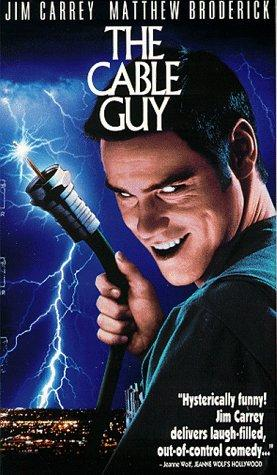 VHS Tape. The Cable Guy starring Jim Carrey and Matthew Broderick