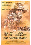 VHS Tape.  The Missouri Breaks starring Marlon Brando & Jack Nicholson