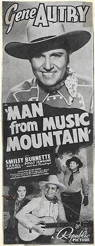 "VHS 2 Video Cassette Set. Gene Autry is ""The Man"" of the Frontier and From Music Mountain."